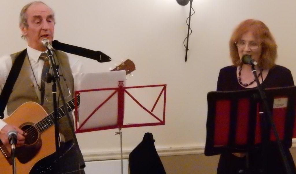 Brian  and Sandra entertain the company